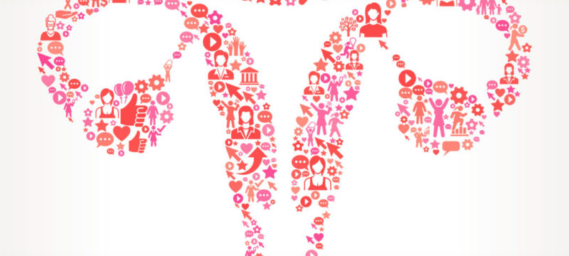 Female Reproductive System Women's Rights and female empowerment Icon Pattern