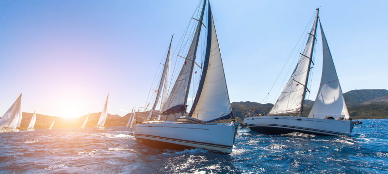 Luxury yachts Sailing regatta