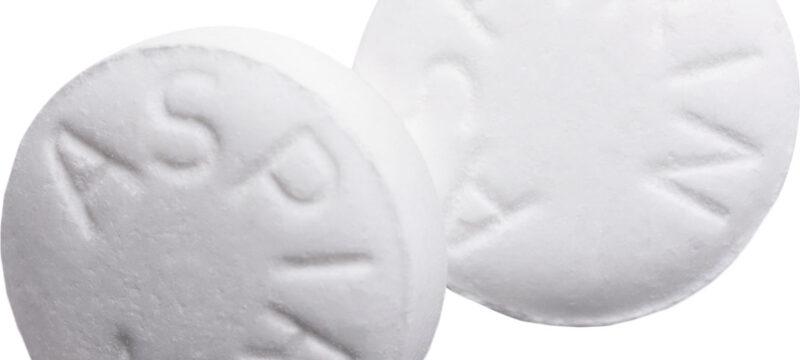 Aspirin Pills Isolated on White